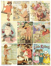 Vintage storybook images (want some just like these to frame for the nursery)