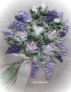 Silk Ribbon Embroidery Petites Fleurs Full kit от lornabateman22