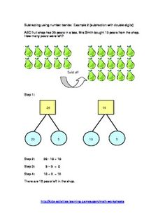 Printable Subtraction Worksheets - Singapore Math