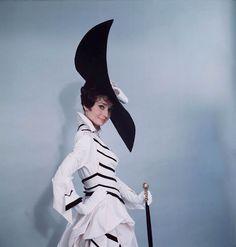 Actress Audrey Hepburn wearing costume designed by Cecil Beaton for the Broadway musical 'My Fair Lady'. (Photo by Cecil Beaton) My Fair Lady, Vanity Fair, Caroline Reboux, Divas, Audrey Hepburn Pictures, Magazine Vogue, Hollywood Costume, Eliza Doolittle, Cecil Beaton
