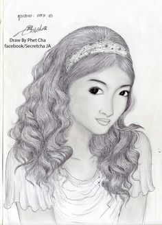 Beautiful hair khmer draw.by.phet.cha Phet.cha.ja Instagram.secret.cha