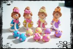 Winter Princess wt Robe Polymer Clay Scapbooking Charm, Pendant, Bow Center, Bead