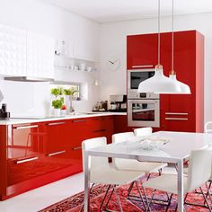 Decorating with Red | Bold Colour Kitchens