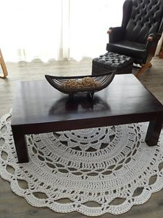 Ravelry's Leftlady created this stunning doily rug.
