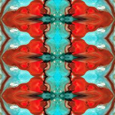 Color Chant - Red And Aqua Pattern Art By Sharon Cummings Canvas Print