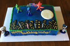 PJ Mask 4th birthday cake