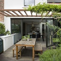 I like the pergola and the table. The look of the benches is good but would prefer chairs