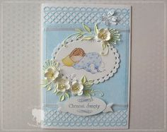 hania739: Baptism for boy - Or, it could be a congratulations card for the birth of a baby...