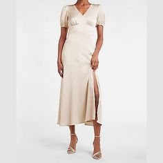 Beachy Maxi Dress, White Lace Maxi Dress, Sequin Midi Dress, White Long Sleeve Dress, Maxi Dress With Sleeves, Short Long Dresses, Express Dresses, Women's Dresses, Satin