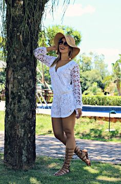 Vista o Look Look Fashion, Spring Fashion, Fashion Outfits, Womens Fashion, Moda Blog, Look Boho, Summer Outfits, Summer Dresses, White Dress Summer