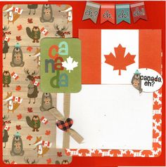 Your place to buy and sell all things handmade Scrapbook Page Layouts, Scrapbook Pages, Scrapbooking Ideas, Birthday Party Images, Birthday Scrapbook, Canada Day, Travel Themes, Travel Scrapbook, Scrapbooks