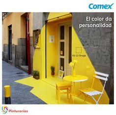 Somos Fos - a vibrant installation designed for a vegan restaurant in Madrid. (fos) restaurant in Madrid, geniale! Instalation Art, Ephemeral Art, Street Art Graffiti, Graffiti Murals, Graffiti Artists, Graffiti Lettering, Mellow Yellow, Yellow Art, Color Yellow