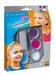 Farbki do malowania twarzy dla dzieci z brokatem  - zabawki kreatywne dla dziewczynek