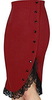 Black Friday Black Friday Solid Mid-Calf Elegant Buttons Lace Skirts top online fashion store for women. Shop sexy club jeans, shoes, bodysuits, skirts and more . Pencil Skirt Dress, Pencil Skirt Outfits, Dress Skirt, Lace Skirt, Lace Ruffle, Pencil Skirts, Pencil Dresses, Vintage Mode, Vintage Stil