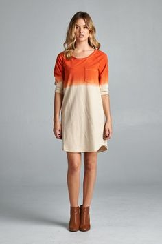 Really like this, but not in orange. Good length to wear with leggings or jeans. Good for spring or winter