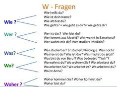 W-Fragen | Deutsch lernen