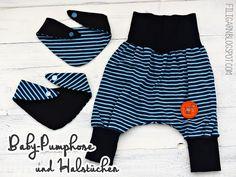 filigarn.blogspot.com - genähtes - Baby-Pumphose und Halstücher