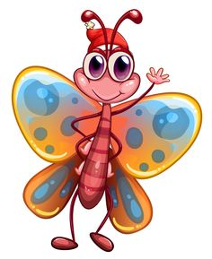 """Photo from album """"Букашки"""" on Yandex. Cartoon Drawings, Cartoon Art, Cartoon Characters, Cartoon Butterfly, Butterfly Art, Butterflies, Butterfly Images, Fruit Coloring Pages, Colouring Pages"""