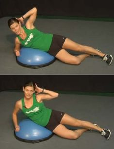 15 Best BOSU Ball Exercises And Benefits To Improve Balance And Core Strength - Willkommen Bosu Workout, Oblique Workout, Workout Tips, Workout Plans, Workout Routines, Spin Bike Workouts, Ball Workouts, Swimming Workouts, Swimming Tips