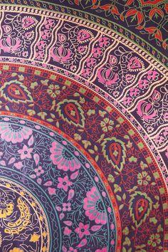 Large mandala tapestry mul mul cotton fabric wall by CottonOnly