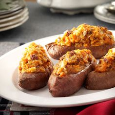 Apple & Pecan Stuffed Sweet Potatoes