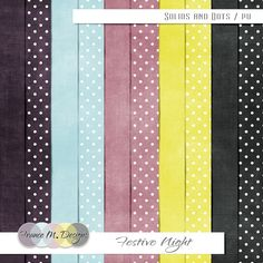 Festive Night | Solids and Dots | France M. Designs