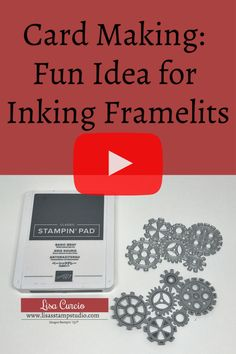 I've got card making: fun idea for inking framelits in today's quick tip video. Learn how to ink your framelits to produce an outline image. Lisa Curcio - Lisa's Stamp Studio - Card Making Tips, Card Making Tutorials, Card Making Techniques, Making Ideas, Making Cards, Video Tutorials, Embossing Techniques, Rubber Stamping Techniques, Scrapbooking