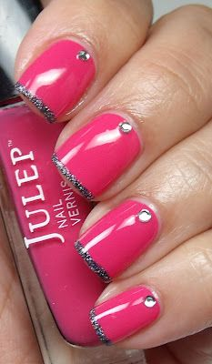 Colores de Carol: Its So Easy Nail Art (Pink Wednesday)