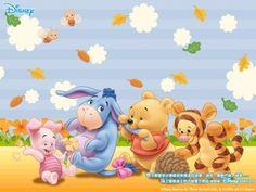 Piglet, Igor, Pooh y Tigger en Winnie the Poo