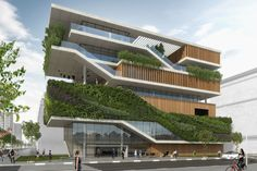 Modern Buildings Green Great Buildings And Structures Cultural Architecture, Architecture Design Concept, Detail Architecture, Plans Architecture, Architecture Building Design, Green Architecture, Facade Design, Futuristic Architecture, Sustainable Architecture