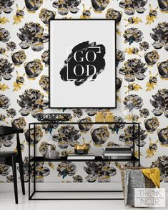 20 % OFF Removable Wallpaper Floral Pattern / Peony by ThinkNoir