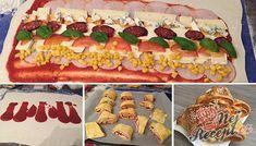 9 úžasných receptov, na ktorých si pochutnáte pri športových prenosov v TV Party Buffet, Partys, Appetizer Dips, Canapes, Party Snacks, Stromboli, Love Food, Tapas, Sushi
