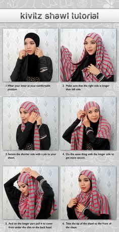 hijab ... the wearer of this style of head scarf...always... looks so great... now I can try...