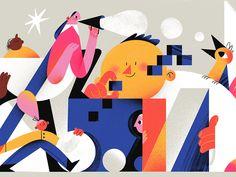 InVision Studio Platform designed by Tania Yakunova. Connect with them on Dribbble; Landscape Illustration, Flat Illustration, Character Illustration, Graphic Design Illustration, Digital Illustration, Fantasy Illustration, Flat Web, Kirigami, Vector Art
