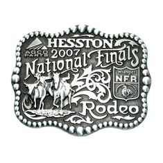 Hesston National Finals Rodeo 2007 Montana Silversmiths Belt Buckle