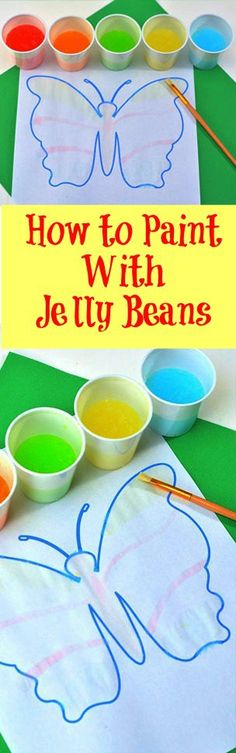 Looking for a fun craft to put some of those Easter jelly beans to good use? Did you know that you can paint with them? Here is how to paint with jelly beans!