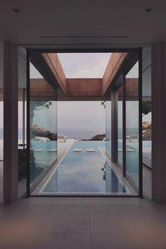 """livingpursuit: """"Haus in Aiguablava von MANO Arquitectura"""" - Architektur Haus - Moderne Häuser Design Exterior, Interior Exterior, Architecture Design, Post Modern Architecture, Amazing Architecture, Deco Design, Pool Designs, My Dream Home, Future House"""