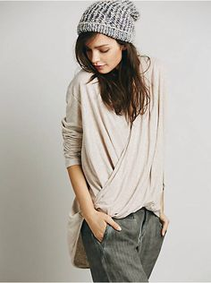 Free People Ease Up Wrap Top, $98.00