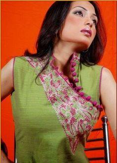 Stylish Fashion Base: Women Neck Designs For Salwar Kameez Suits