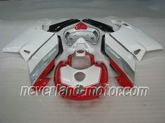 Ducati 749 / 999 2005-2006 ABS Fairing - White/Silver/Red #2006ducati999fairing #2005ducati749fairing