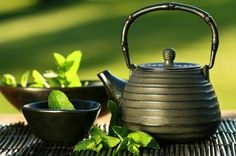'Grow Your Own Herb Tea Garden' - this article shares easy herbs to grow & brew; 'Children's Happy Potion' Recipe (a great home remedy for parents); how to make herb ice cubes & herb tea making tips. | The Micro Gardener
