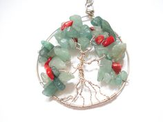 Wire Wrapped Tree of Life Pendant Handmade Tree of by AnnaRecycle