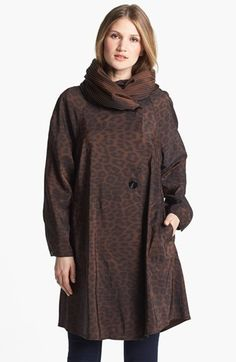 262245f3c47 Mycra Pac Designer Wear Reversible Leopard Pleat Hood Packable Travel Coat  available at  Nordstrom Baby