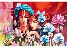 Buddha Painting, Ganesha Painting, Buddha Art, Mural Painting, Mural Art, African Art Paintings, Modern Art Paintings, Madhubani Art, Madhubani Painting