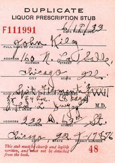 Prescripción en Chicago de Whisky irlandés durante la Ley Seca