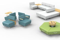 The Hub™ Collection  The new Hub collection by KI brings contemporary styling to modular seating. Hub is as reconfigurable as it is versatile and can be ganged together to create modular layouts, or be used as standalone pieces, all while incorporating power capabilities. The sled base allows for ease of movement or reconfiguration to promote collaboration in any setting, while the optional architectural elements can bring impact to any space. Learn more at http://www.ki.com.