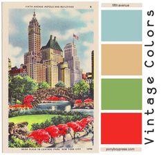 Vintage Color Palettes: fifth avenue