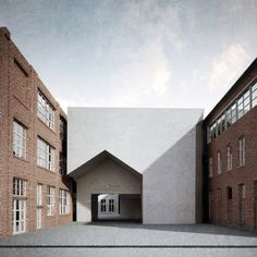Aires Mateus to design architecture school with a house-shaped entrance | Portuguese brothers Manuel and Francisco Aires Mateus have won a competition to design a new school of architecture in the Belgian city of Tournai, with plans for a complex featuring a house-shaped entrance void.
