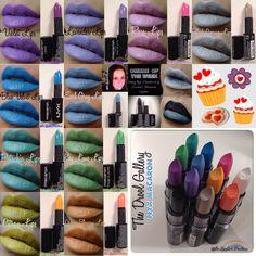NYX Macaron Lips Montage Nyx Macaron, Macarons, Lipstick Art, Lipsticks, Nyx Cosmetics, Makeup Videos, Blue Velvet, Pistachio, Instagram Posts