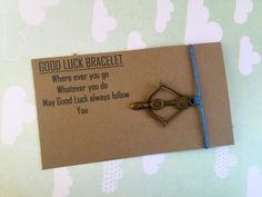 A personal favorite from my Etsy shop https://www.etsy.com/listing/263677304/good-luck-bracelet